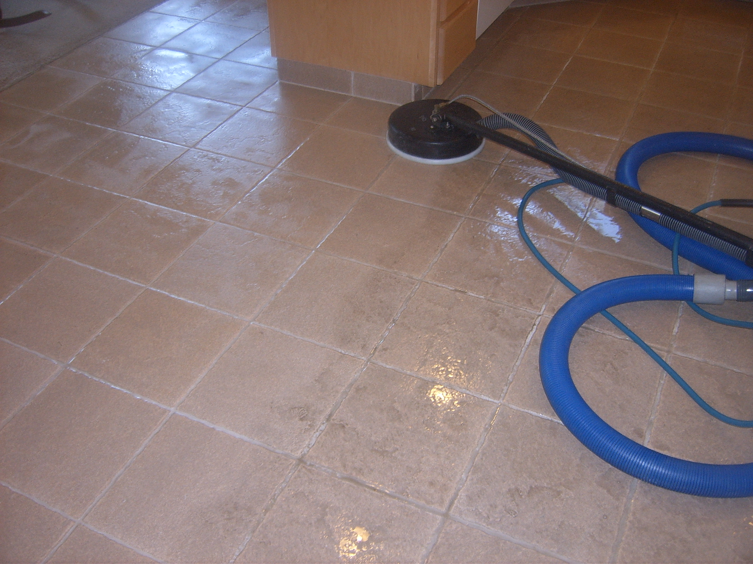 Ceramic Tile Grout Cleaning Cleaining In A Kitchen Can You See The Difference
